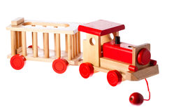 Funky old retro wooden train Royalty Free Stock Photos