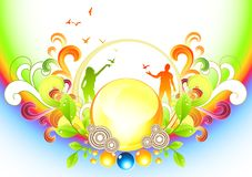 Funky Organic Background Stock Images