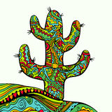 Funky ornate cactus. Stock Images