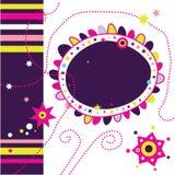 Funky Pagina 1 van het Plakboek Stock Foto's