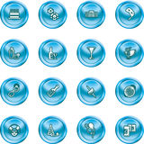 Funky party icon set. Fun icons or design elements relating to parties Royalty Free Stock Image