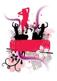 Funky Party Sign vector illustration