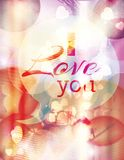 Funky pastel color Love flyer Royalty Free Stock Photo