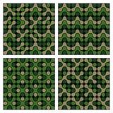 Funky Patronen van de Camouflage Stock Afbeeldingen