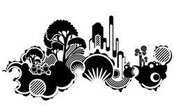 Funky patroonachtergrond royalty-vrije illustratie