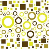 Funky pattern. Funky rings and boxes Royalty Free Stock Photography