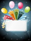 Funky pattern banner with wave background Royalty Free Stock Images