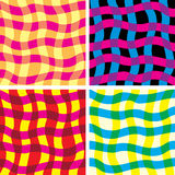 Funky Patterns. Colorful Funky Seamless Patterns for your design Royalty Free Stock Image