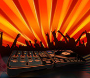 Funky people - electro music concert Stock Image