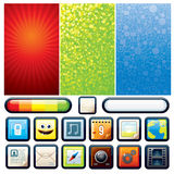 Funky Phone Kit. Funky Phone Set. Backgrounds and Interface Elements for Your Design Stock Photo
