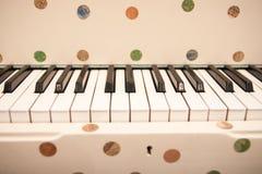 Funky piano and keydoard close-up. Stock Photos
