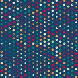Funky points seamless pattern with grunge effect Stock Image