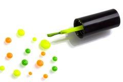 Funky polish nail Stock Image