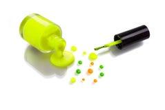 Funky polish nail Stock Photos