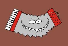 Funky polka accordion Royalty Free Stock Photo