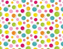 Funky polka dot seamless pattern. EPS file has global colors for easy color changes Royalty Free Stock Photography
