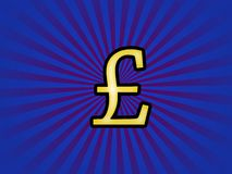 Funky pound sterling Stock Image