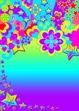 Funky Psychedelische Banner Royalty-vrije Stock Afbeelding