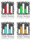 Funky radio signs Stock Photography
