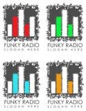 Funky radiotekens Stock Fotografie