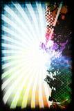 Funky Rainbow Layout royalty free illustration