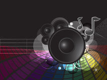 Funky rainbow music illustration Stock Photos