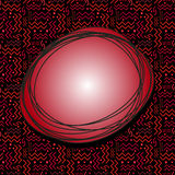 Funky Red Speech Bubble with Memphis Pattern on Black Royalty Free Stock Image