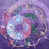 Funky retro achtergrond van het stijl bloemenontwerp Royalty-vrije Stock Afbeeldingen