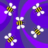 Funky retro bees Stock Photography