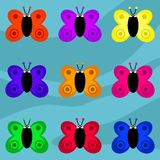 Funky retro butterflies Stock Image