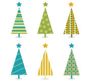 Funky retro christmas tree design Stock Photography