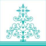 Funky retro coil christmas tree vector illustration
