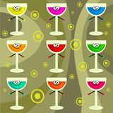 Funky retro drinks Royalty Free Stock Photography