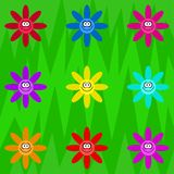 Funky retro flowers Royalty Free Stock Photography