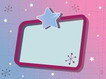 Funky retro frame Royalty Free Stock Image