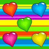 Funky retro hearts Royalty Free Stock Images