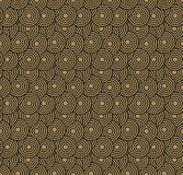 Retro wallpaper. Abstract seamless geometric pattern with circles on brown royalty free stock images