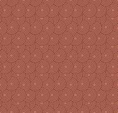 Retro wallpaper. Abstract seamless geometric pattern with circles on red royalty free stock image