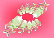 Funky retro stars graphic. Illustration. Pink background Stock Photos