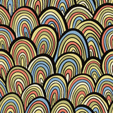 Funky retro style seamless pattern. Stock Photos