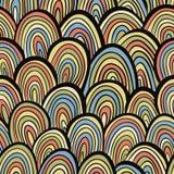 Funky retro style seamless pattern. Funky retro style seamless pattern, colorful vector background stock illustration