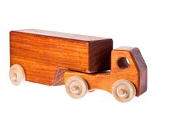 A funky retro wooden truck or semi-trailer Royalty Free Stock Images