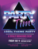 Funky 1980s theme party flyer template invitation. 80's Night party flyer invitation template vector illustration