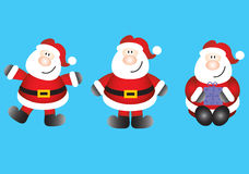 Funky santas Stock Illustratie
