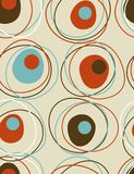 Funky seamless pattern. Great retro wallpaper, circular pattern Royalty Free Stock Images