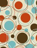 Funky seamless pattern. Great  seamless wallpaper with circular shapes Royalty Free Stock Photo