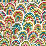 Funky seamless pattern. Stock Photography