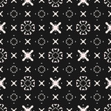 Funky Seamless Pattern, Cross Background, X Texture. Stock Photos