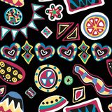 Funky seamless pattern Stock Image