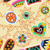 Funky seamless pattern Royalty Free Stock Images